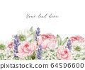 Watercolor Flowers Clipart, Floral Wedding Invitation 64596600