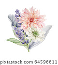 Watercolor Flowers Clipart, Floral Wedding Invitation 64596611