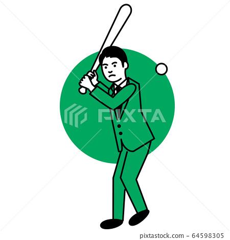 運動男子棒球/壘球 64598305