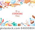 Cartoon baking vector banner 64600804