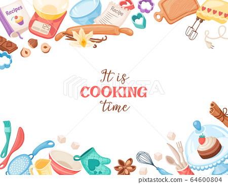 Cartoon baking vector banner 64600804