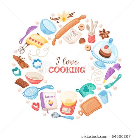 Cartoon baking vector banner 64600807