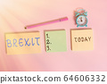 Word writing text Brexit. Business concept for 64606332