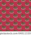 Cream choco cherry cake tasty seamless background pattern 64611339