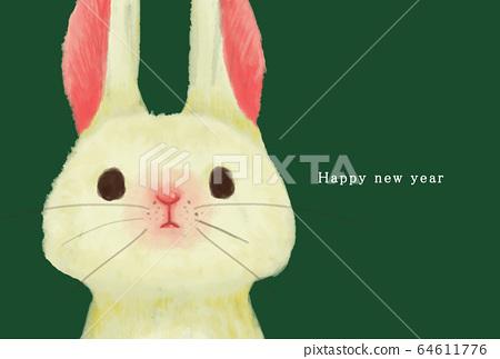 2023 연하장 템플릿 해피 뉴 이어 연하장 토끼 년 토끼 년 토끼 년 2023 년 64611776