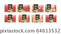 set plant based vegetarian beyond meat in packaging organic natural vegan food concept horizontal copy space 64613532