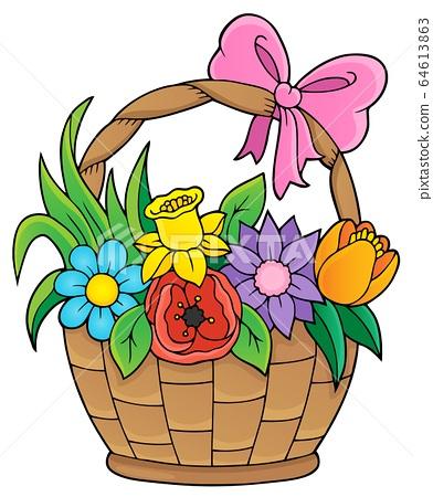 Flower basket theme image 1 64613863