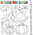 Coloring book vegetable collection 1 64613877