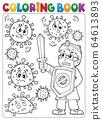 Coloring book doctor fighting virus 2 64613893