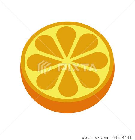 Orange citrus fruit icon bright art vector 64614441