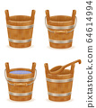 wooden bucket with wood texture old retro vintage 64614994