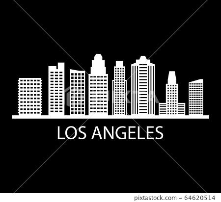 Los Angeles skyline 64620514
