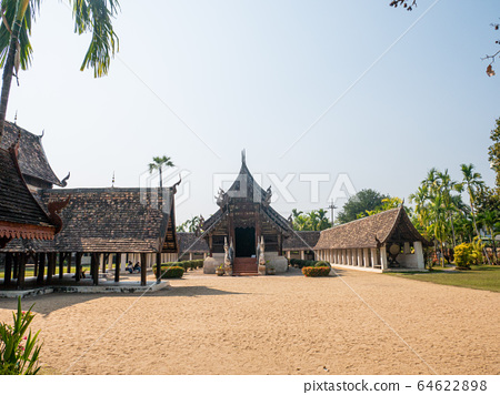 Intharawat or Wat Ton Kwen temple.Old traditional 64622898