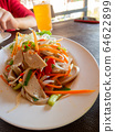 Thaifood of Pork sausage spicy salad Thai and 64622899