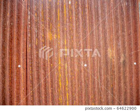 Vertical texture zinc sheet.Brown old Zinc  64622900