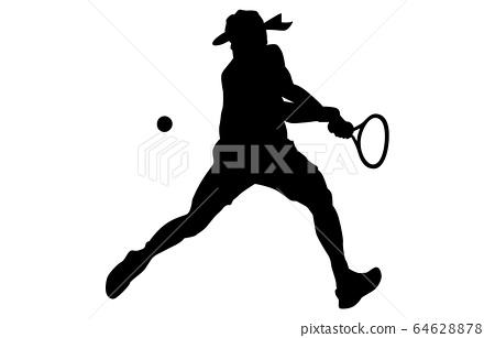 運動剪影網球9 64628878