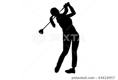 스포츠 실루엣 골프 4 64628957