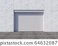 Closed shutter door or roller door on gate 64632087