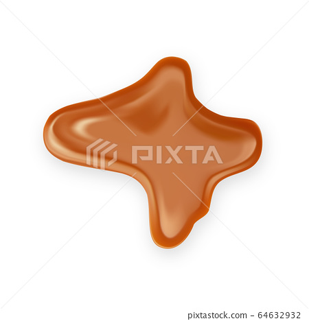 Caramel Toffee Candy Delicious Sweet Splash Vector 64632932