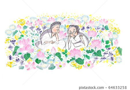 Grandpa and grandma in heaven 64633258