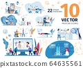 Medicine Innovative Technologies Vector Scenes Set 64635561
