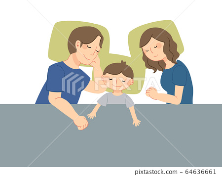 Family going to bed 64636661