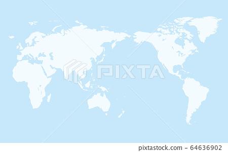 地圖 世界地圖 矢量 64636902