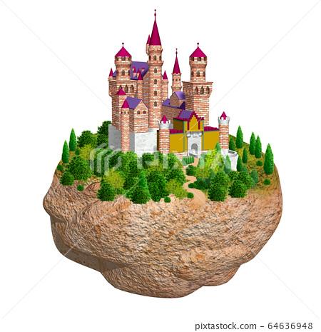 바위의 유럽의 성 그림 64636948