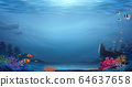 Natural ocean bottom background 64637658