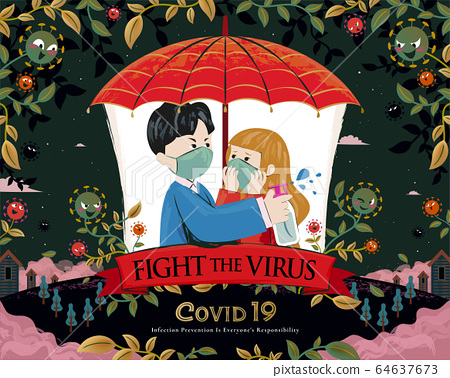 Couple fight coronavirus together 64637673