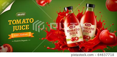 Ad of fresh tomato juice 64637718