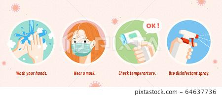 COVID-19 prevention banner 64637736