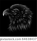 The Vector logo eagle for tattoo or T-shirt design  64638437