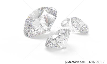 다이아몬드 배경 백계 CG 64638927