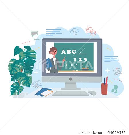 在線課程計算機視頻分發圖 64639572