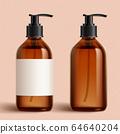 Set of brown cosmetic bottles 64640204