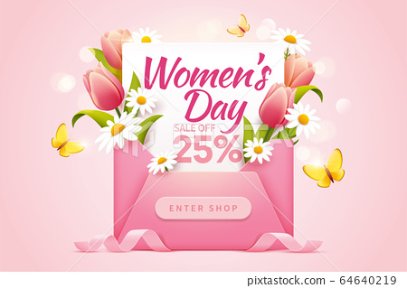 Pop up ads for Women's Day Sale 64640219