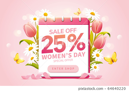 Pop up ads for Women's Day Sale 64640220