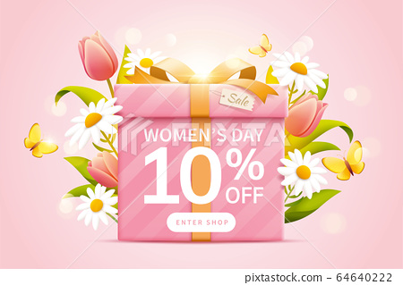 Pop up ads for Women's day sale 64640222