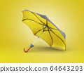Opened two tone umbrella 3d render on color 64643293