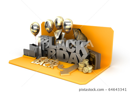 Black Friday concept background big letters with 64643341