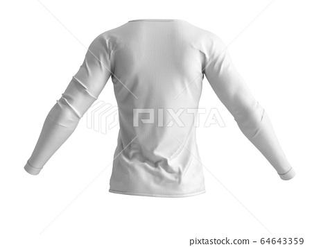 lanck white shirt and 3d render on white 64643359