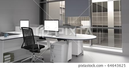 modern office room 3d rendering image 64643625