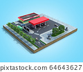 piece of land Gas station with parking on the 64643627