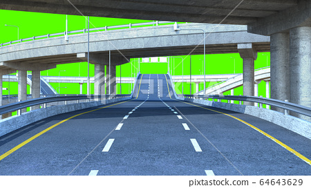 Day Road freeway travel concept route big board 3d 64643629