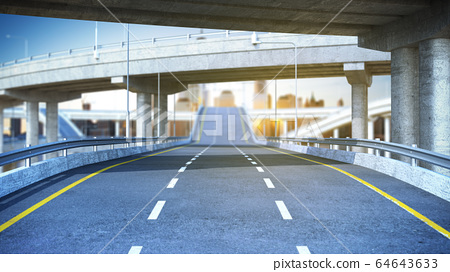 Day Road freeway travel concept route big board 3d 64643633