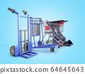 a set of supermarket trolleys for different loads 64645643