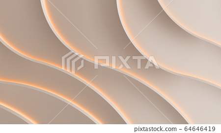 Simple glow lines on wall background  3d render 64646419