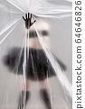 Self-isolation COVID-19 of ballerina in the studio. 64646826