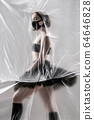 Self-isolation COVID-19 of ballerina in the studio. 64646828